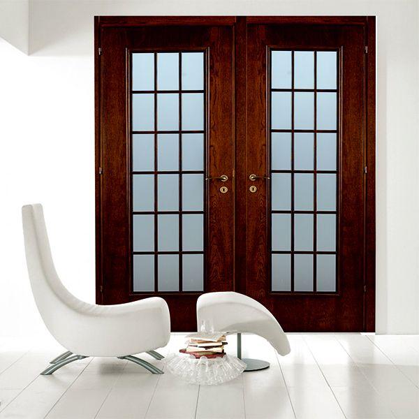 Остъклени профилирани интериорни врати